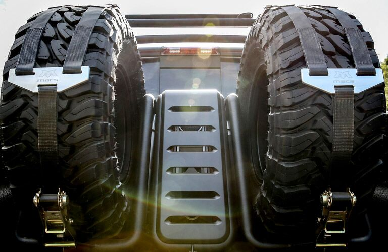optional spare wheels of the 2017 Ram 1500 Rebel