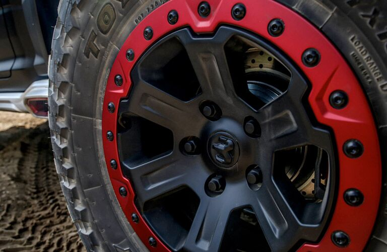 all-terrain tires of the 2017 Ram 1500 Rebel