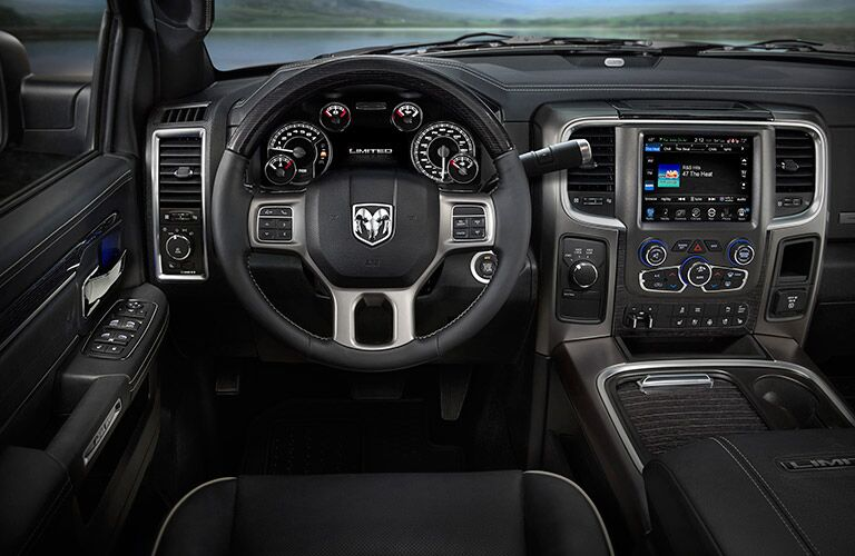 steering wheel and dashboard of the 2017 Ram 2500