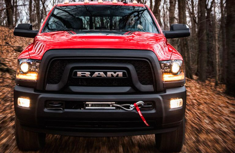 front view of the 2017 Ram 2500 Power Wagon in red