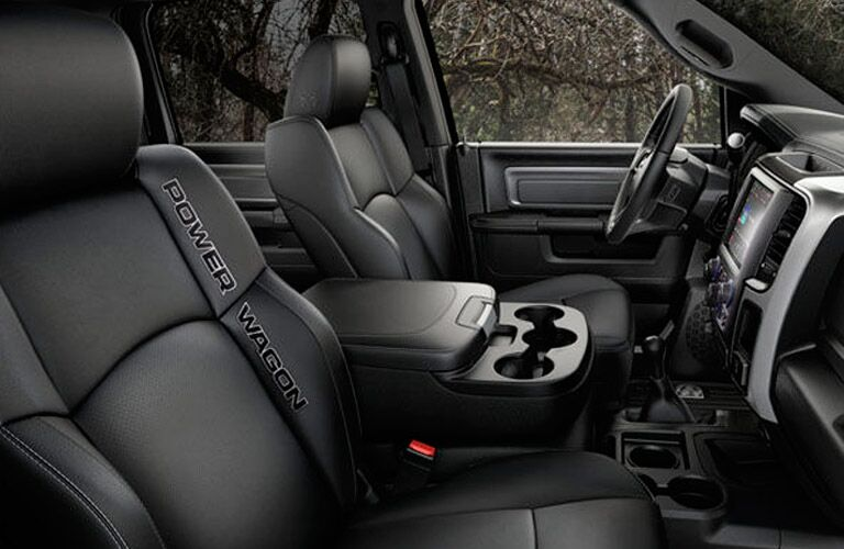 comfortable front seats of the 2017 Ram 2500 Power Wagon
