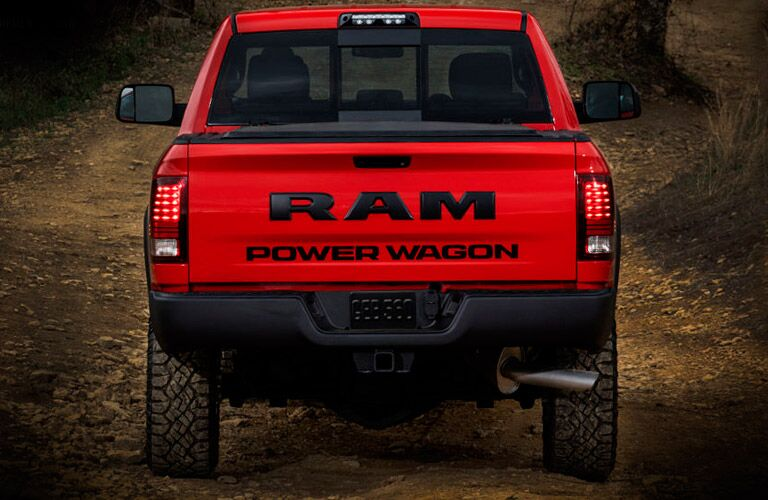 rear view of the 2017 Ram 2500 Power Wagon off-roading vehicle