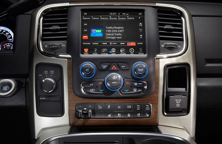 infotainment system in the 2017 Ram 3500