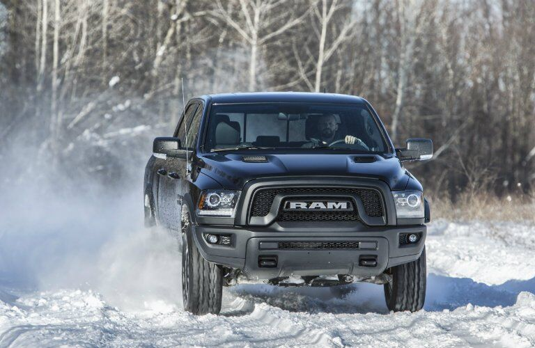 2017 Ram 1500 Rebel Night in snow