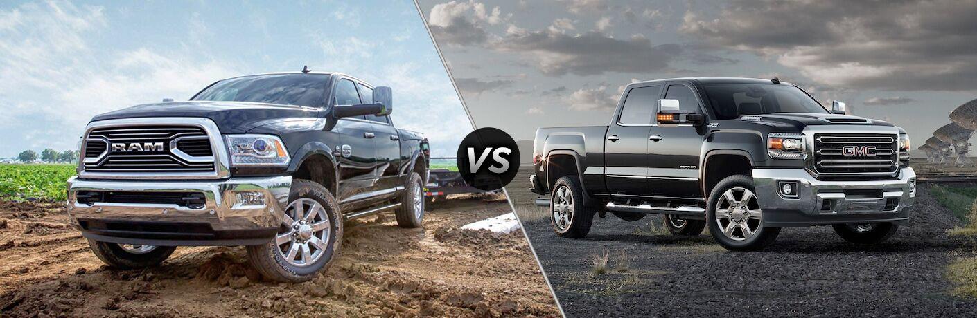 2018 Ram 2500 vs 2018 GMC Sierra 2500HD comparison image