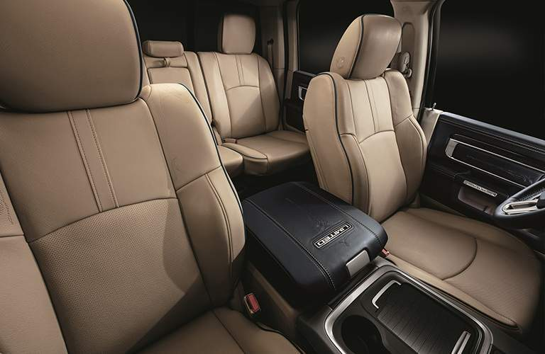 Front and Indigo elite leather seating in the 2018 Ram Limited Tungsten Edition