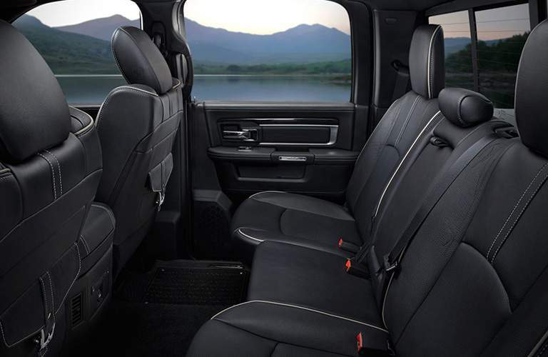 black upholstered rear seating in the 2018 Ram 1500