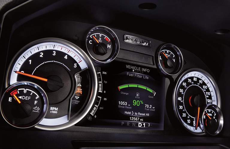 gauge cluster in the 2018 Ram 2500