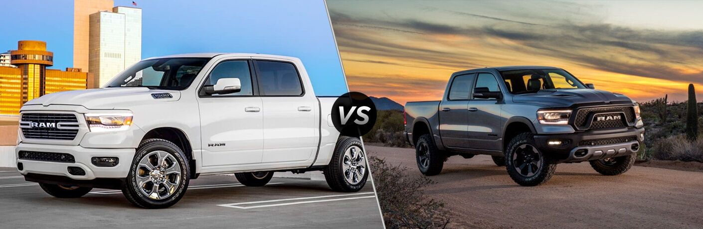 2019 Ram 1500 Big Horn vs Rebel comparison image