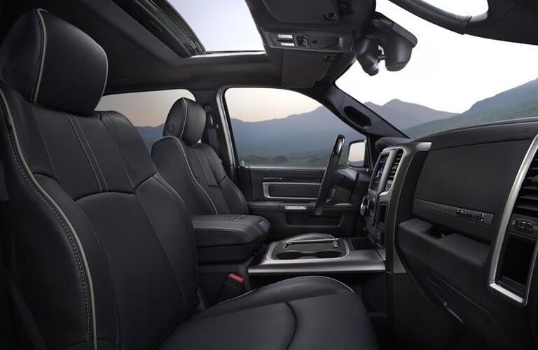 Interior of 2019 Ram 1500
