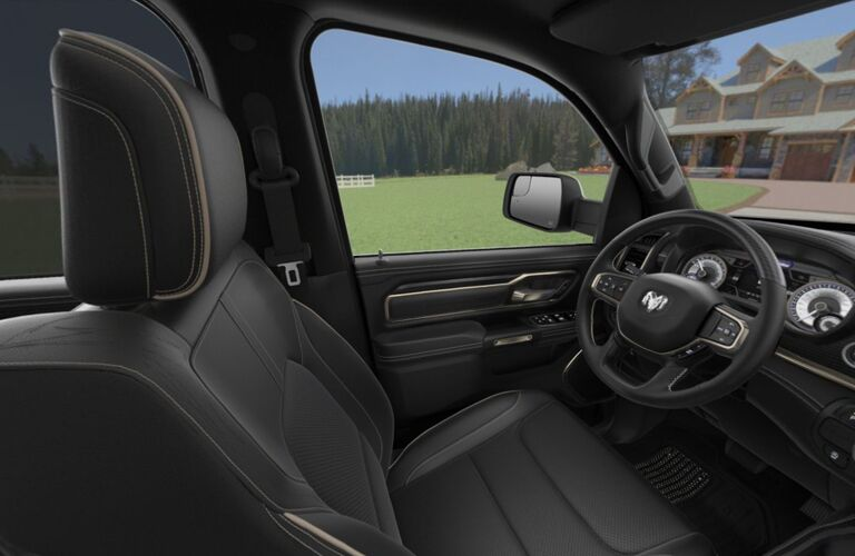 driver cockpit of the 2019 Ram 1500 Limited