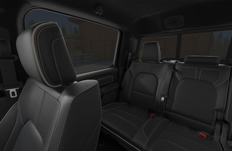 rear seats of the 2019 Ram 1500 Limited