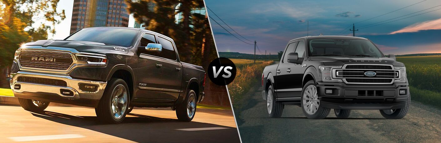 2019 Ram 1500 Limited vs 2019 Ford F-150 Limited comparison image