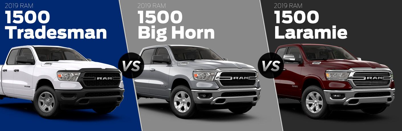 2019 Ram 1500 Tradesman vs Big Horn vs Laramie comparison image