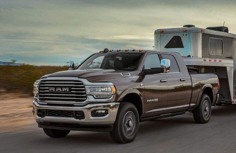 2019 Ram 2500 hauling trailer
