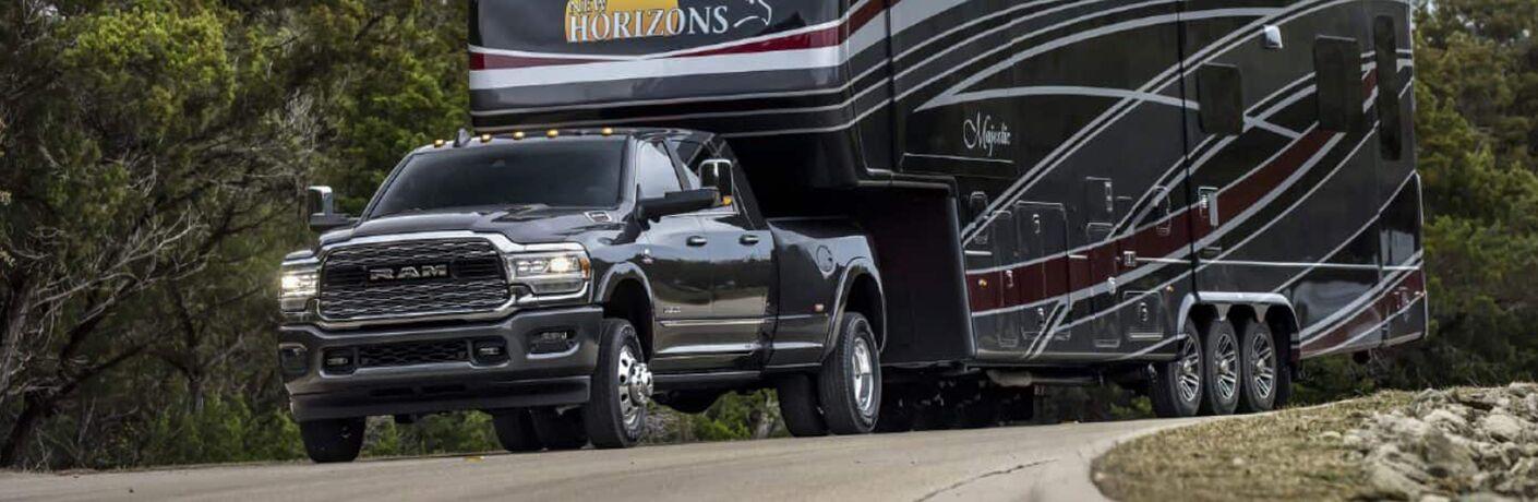 2019 Ram 3500 hauling camper