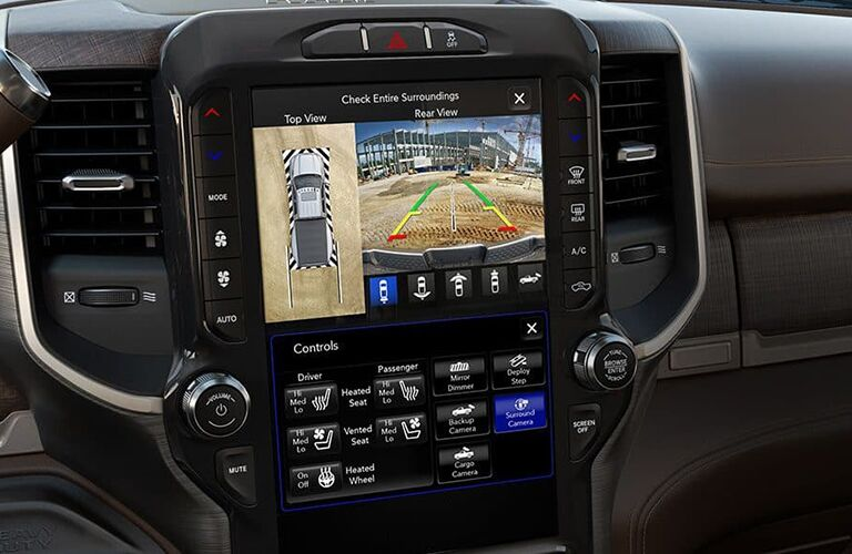 2019 Ram 3500 12-inch Uconnect touchscreen with split-screen capability