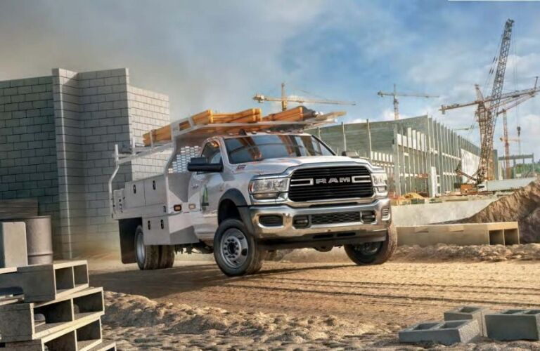 2019 Ram 5500 Chassis Cab on construction site