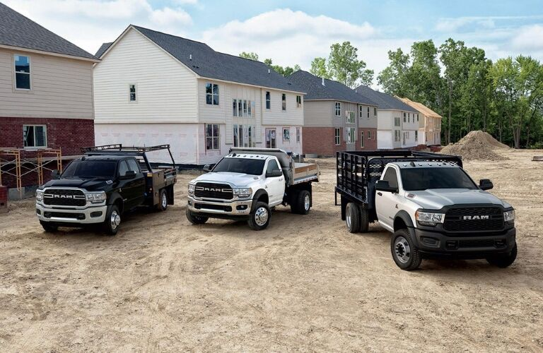 2019 Ram 5500 Chassis Cabs on construction site