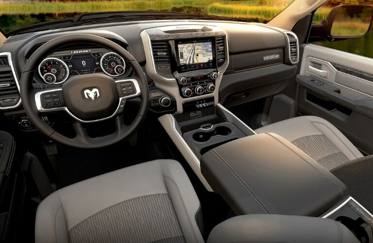 2019 Ram 5500 Chassis Cab front seats and dashboard