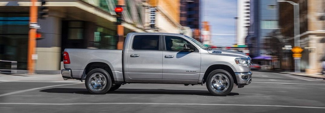 2019 Ram 1500 Big Horn on city street