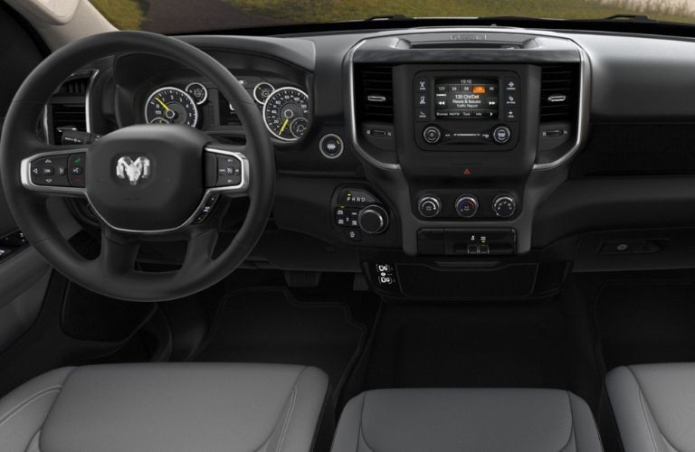 2019 Ram 1500 Big Horn dashboard and steering wheel