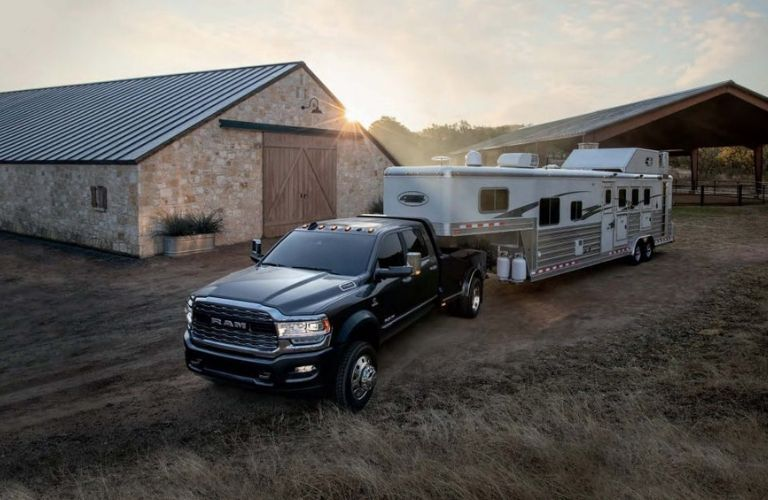 2019 Ram 4500 Chassis Cab hauling camper