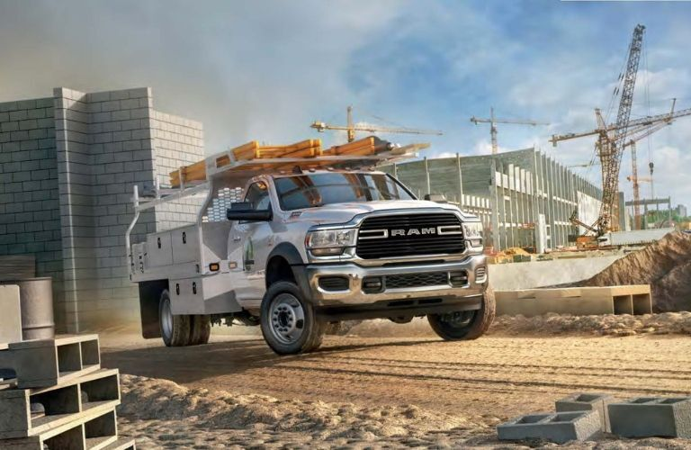 2019 Ram 4500 Chassis Cab construction vehicle on construction site