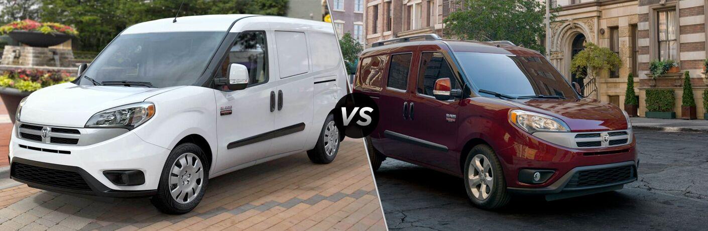 2019 Ram ProMaster City Cargo Van vs Wagon comparison image