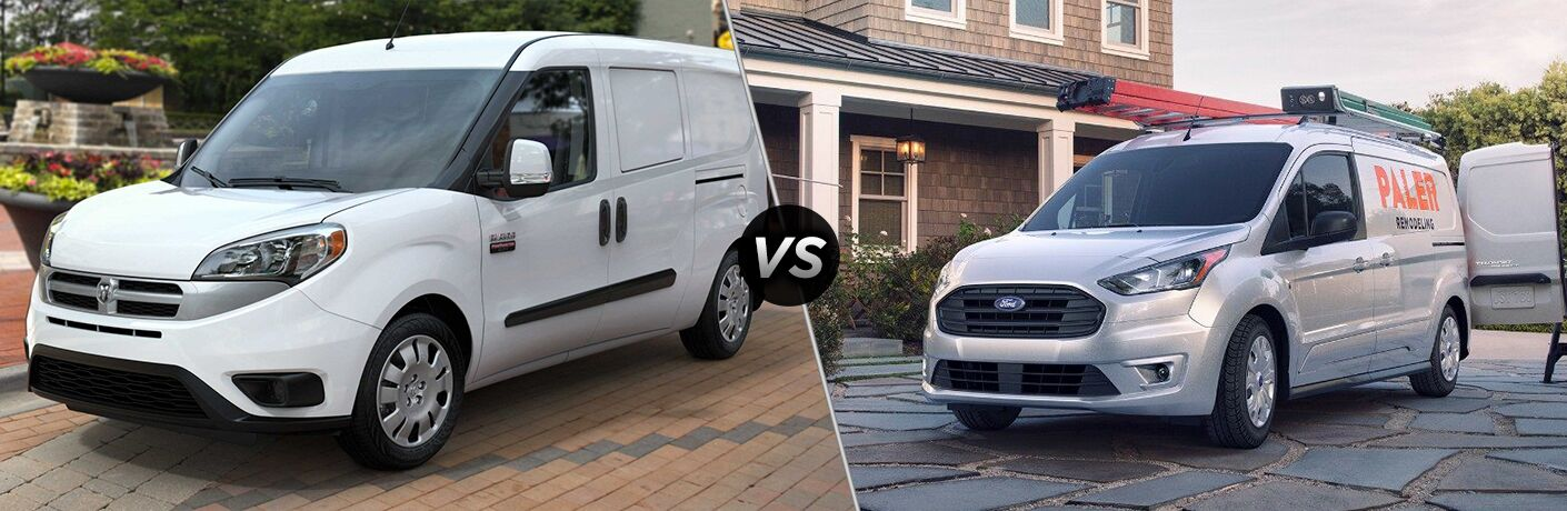 2019 Ram ProMaster City vs 2019 Ford Transit Connect comparison image