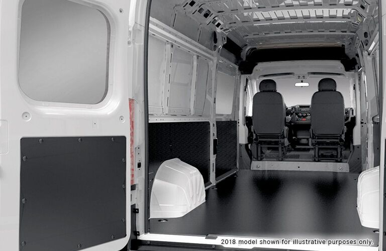 empty interior of the 2018 Ram ProMaster Cargo Van