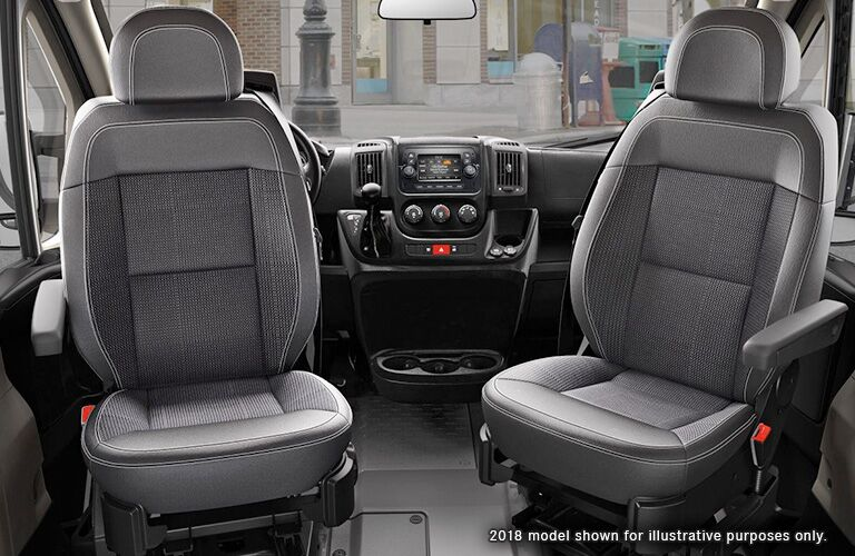 seats of the 2018 Ram ProMaster Cargo Van