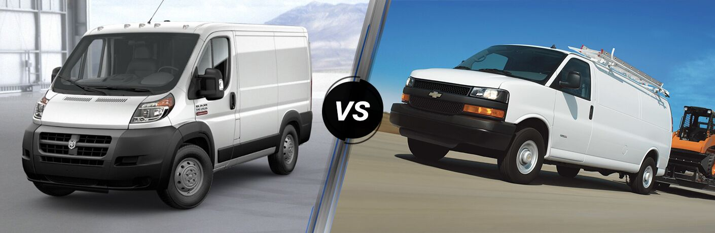 2019 Ram ProMaster vs 2019 Chevy Express comparison image