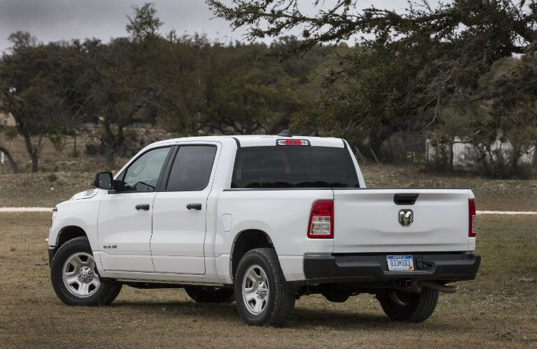 2019 Ram 1500 Tradesman rear in white