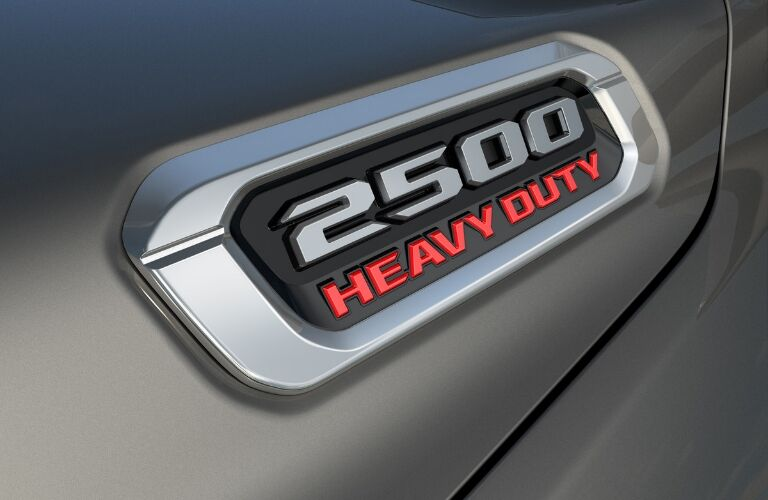 Closeup of Ram 2500 Heavy Duty badging