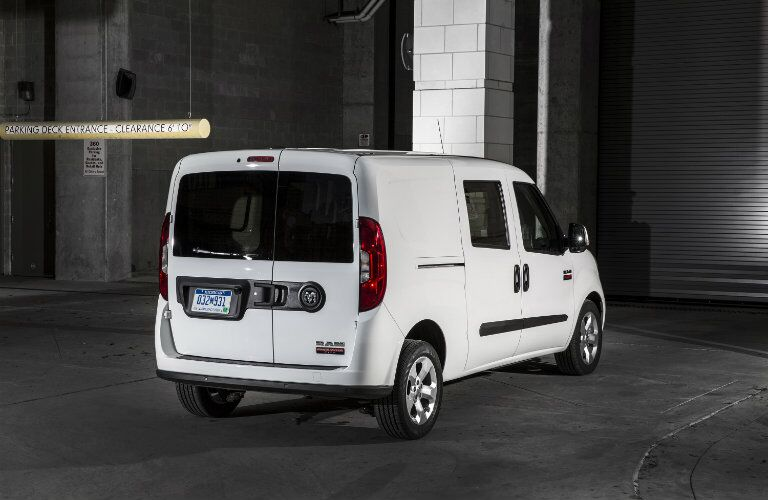 2019 Ram ProMaster City Cargo Van in a parking garage