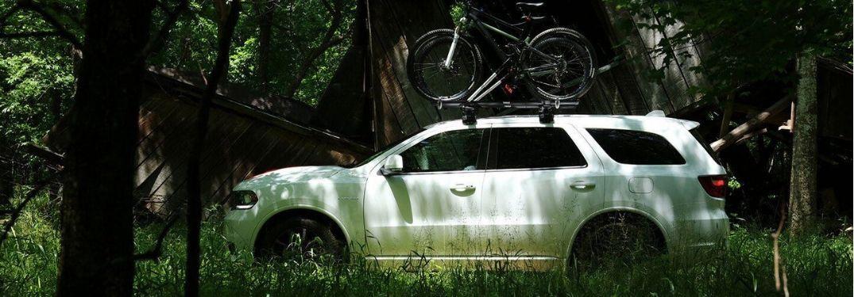 2020 Dodge Durango parked in forest