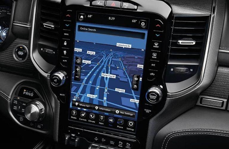 2020 Ram 1500 12-inch touchscreen