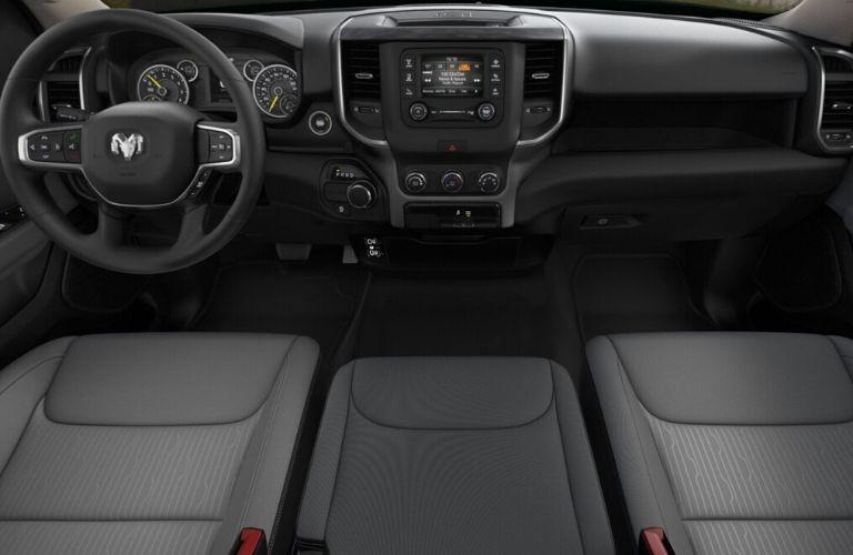 2020 Ram 1500 Big Horn® dashboard and steering wheel