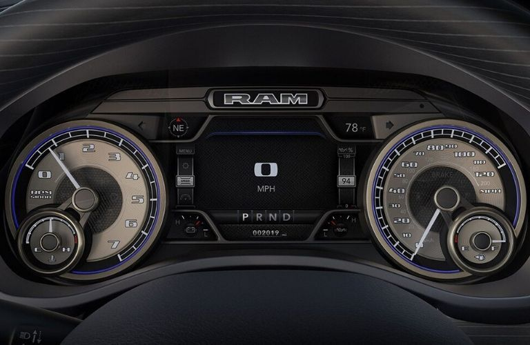 2020 Ram 1500 Limited cluster display