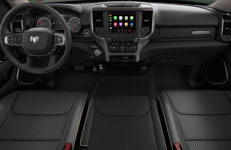 2020 Ram 1500 Laramie dashboard and steering wheel
