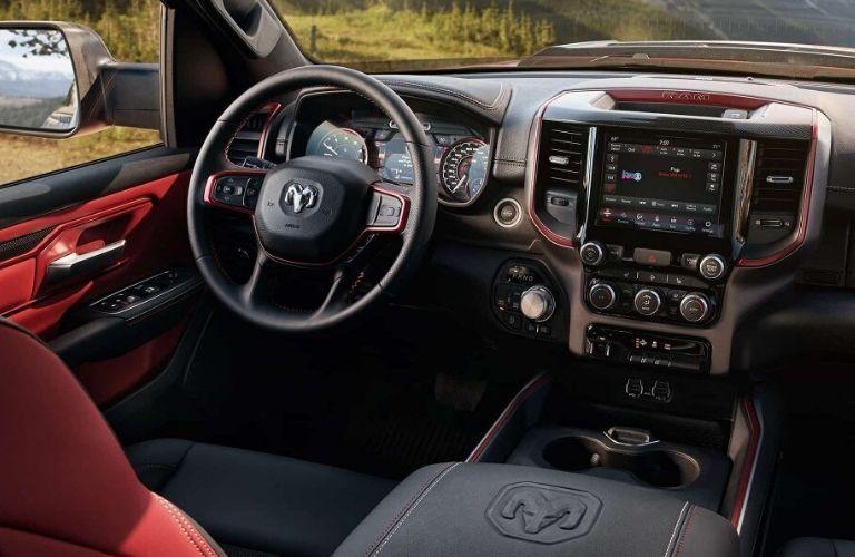 2020 Ram 1500 Rebel® dashboard and steering wheel