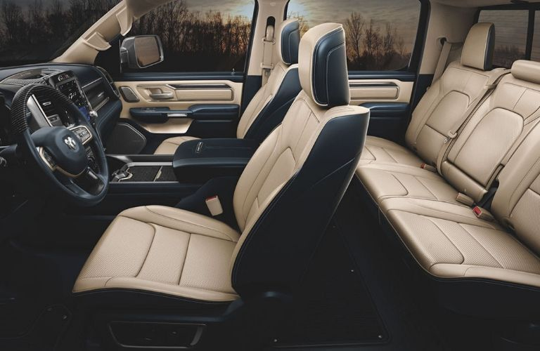 2020 Ram 1500 interior with leather seating