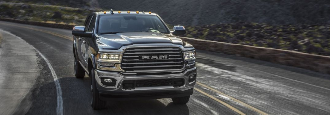 2020 Ram 2500 on winding road