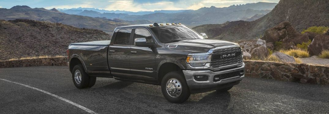 2020 Ram 3500 on scenic roadside overlook