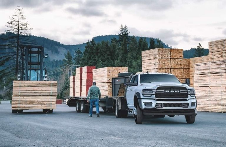 2020 Ram Chassis Cab on work site