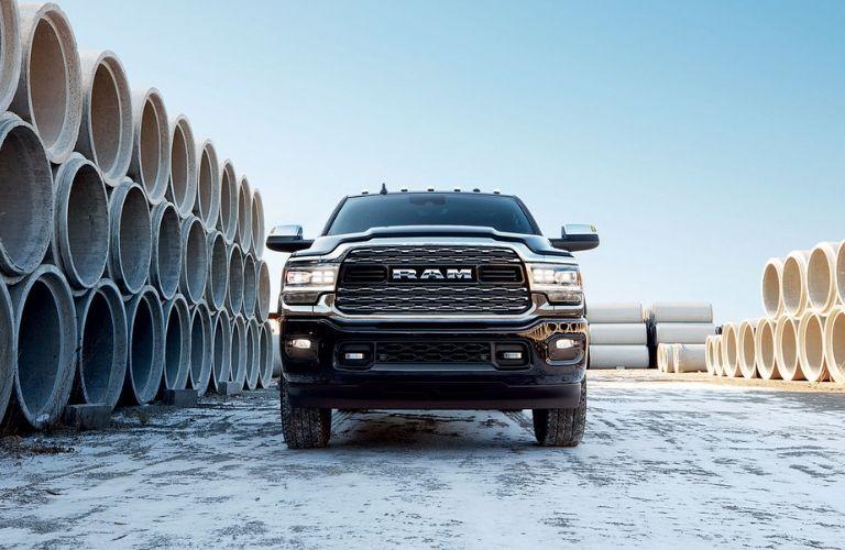 2020 Ram 3500 on construction site