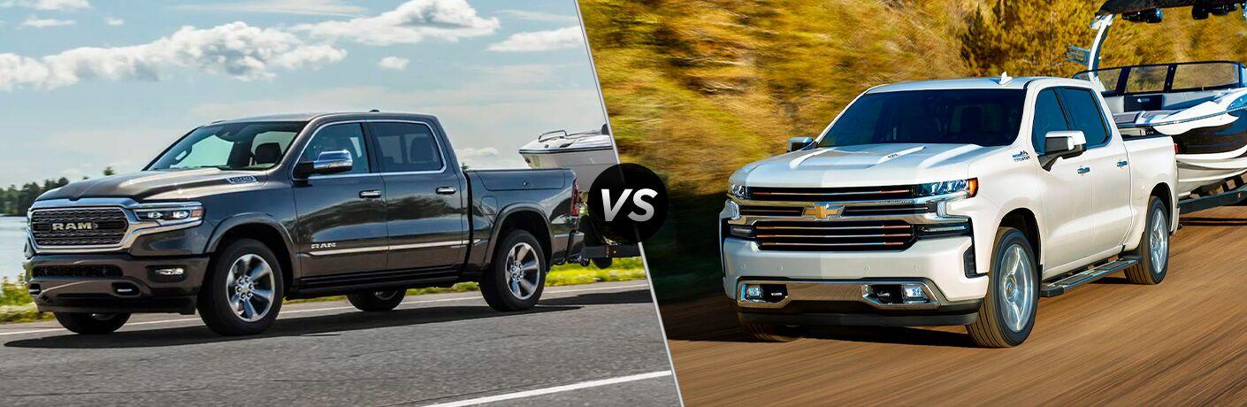 2021 Ram 1500 vs 2021 Chevrolet Silverado