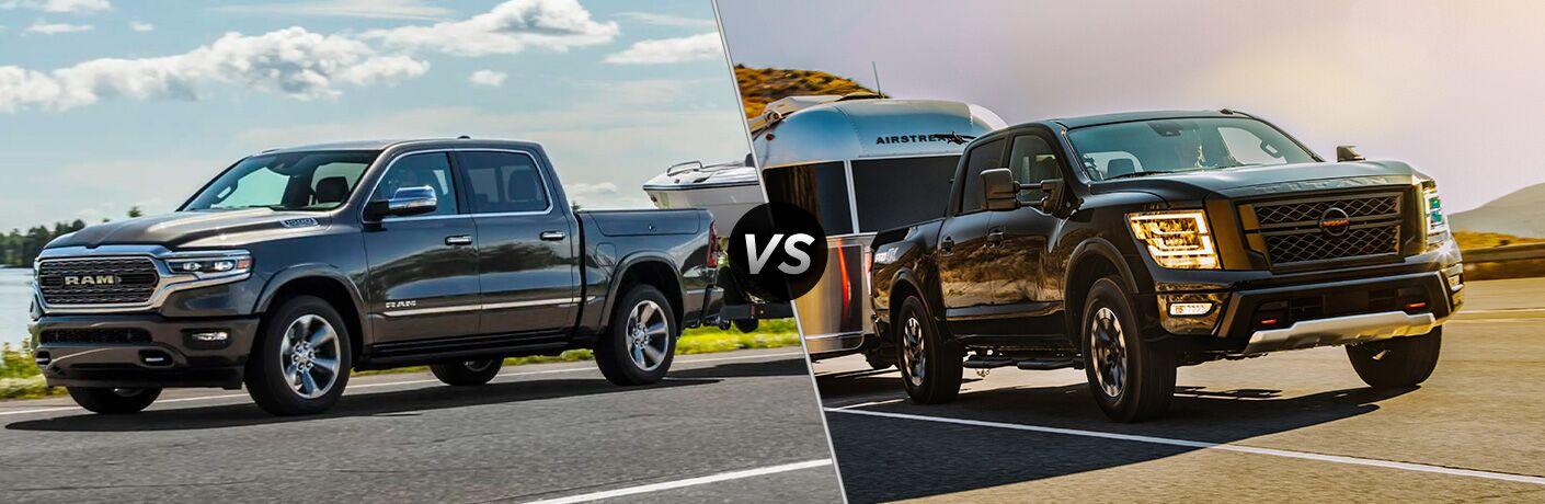 2021 Ram 1500 vs 2021 Nissan Titan