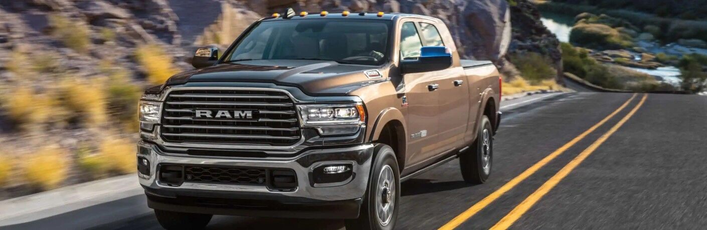 2021 RAM 2500 on long stretch of road